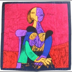 VINTAGE | Silk Picasso Wrap